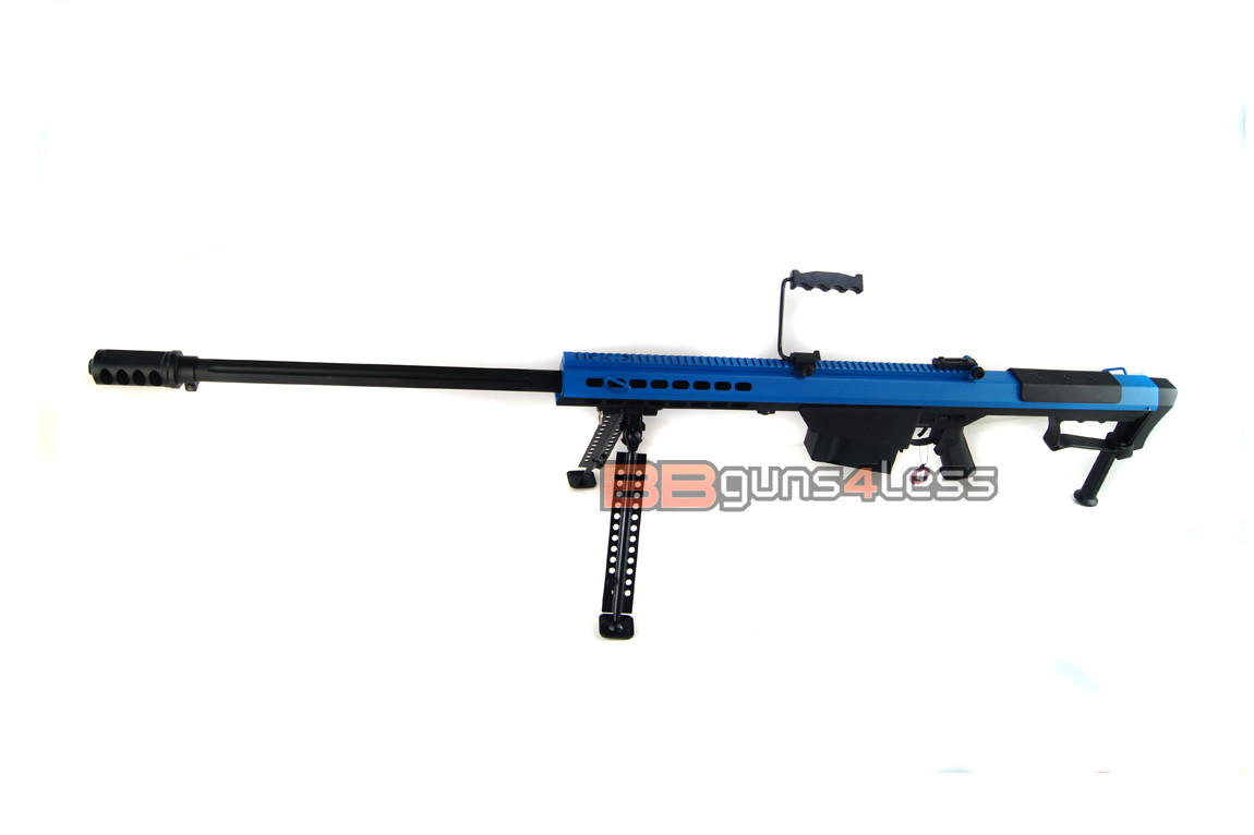 Snow Wolf SW-13 Metal M107A1 Sniper Rifle AEG in blue
