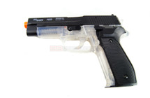 Sig Sauer P226 Transparent with black metal top slide
