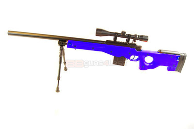 Well MB4401 Sniper Rifle with scope & bipod in Blue