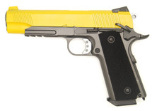WELL G194 Co2 GBB 1911 Full Metal Pistol in Yellow
