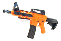 BROKEN//FAULTY-Well D3809 M4 fully auto Airsoft gun in orange