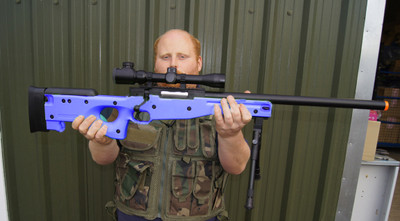 Double Eagle M59 Sniper rifle in blue