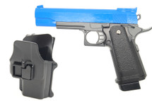 Galaxy G6H M1911 Full Metal Pistol with Holster in blue