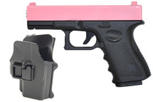 Galaxy G15H Full Metal Pistol with Holster in Pink