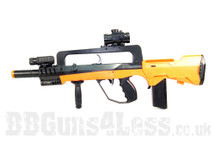 Double Eagle M46A Famas spring bb gun in orange