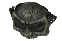 Half Skull Airsoft Mask MAS-58 in Bronze