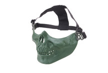 Bottom Half Skull Mortus v2 Mask in Olive