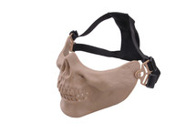 Bottom Half Skull Mortus v2 Mask in Tan