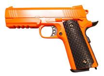 Galaxy G25 K Warrior Full Scale Metal pistol With Rail Orange