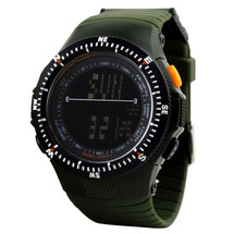Army Digital LED Display Watch in Rubber Green Strap - DG0989