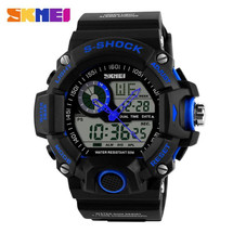 G Style Army Digital Rubber Sports Wrist Watch in Blue AD1029
