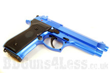 Y&P GG 105 Beretta 92 Replica Gas pistol in blue