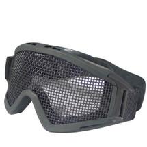 WoSport Desert Locust Mesh Goggles (Steel Mesh) Black