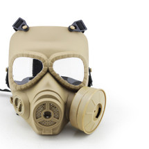 WoSport Air Filtration Gas Mask with Fan in Tan