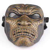 BV Tactical Samurai Airsoft Mask V6 (Round Mesh) Bronze