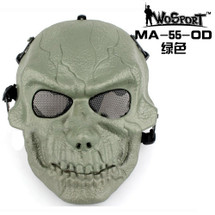Wo Sport Moving Mouth Skull Mask V4 in Olive Drab