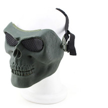 Wo Sport Skull Plastic Airsoft Mask V2 (Steel Mesh) in Olive Drab