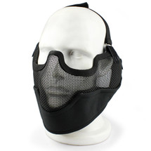 Wo Sport Metal Mesh Lower Face & Ears Mask in Black
