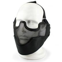 Wo Sport Metal Mesh Lower Face & Ears Mask in Black