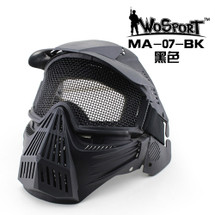 Wo Sport Tactical Gear Mesh Full Face Mask Black
