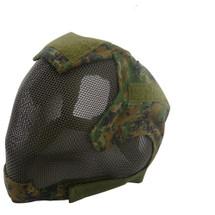 Wo Sport V6 Fencing Style Hood Full Head Mask in Digital Woodland