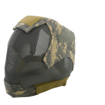 Wo Sport V6 Fencing Style Hood Full Head Mask in ACU Camo