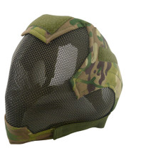 Wo Sport V6 Fencing Style Hood Full Head Mask in CP Multicam