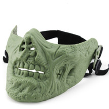 Wo Sport Lower Face Zombie Mask in Olive Drab