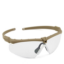 WoSport 2.0 Airsoft Glasses Tan Frame With Clear Lens
