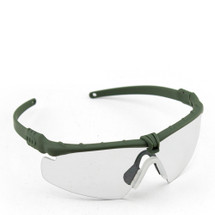 WoSport 2.0 Airsoft Glasses Olive Frame With Clear Lens