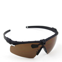 WoSport 2.0 Airsoft Glasses Black Frame With Brown Lens