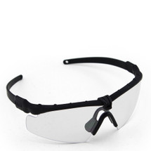 WoSport 2.0 Airsoft Glasses Black Frame With Clear Lens