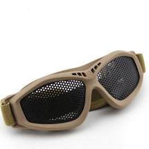 Wo Sport Large Mesh Airsoft Goggles in Tan