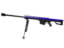Barrett M82A1 bolt action sniper rifle in blue & black