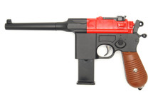 Galaxy G12 BB Gun Mauser Replica pistol in Red
