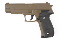 Galaxy G26D P226 Full Scale Metal pistol With Rail in Tan