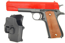 Galaxy G13H Full Metal BB Gun in Red with Holster
