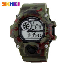 G Style Army Digital Rubber Wrist Watch in woodland camo (nt)