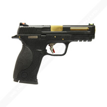 WE BB FORCE T1 Black slide gold barrel