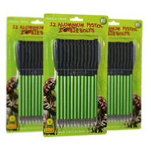 "Zombie Aluminium Pistol Crossbow Bolts 12 x 6.5"" in green"