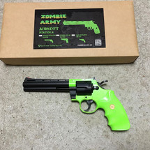 Zombie Army Spring Revolver Python 357 in Radioactive Green