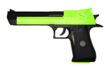Zombie Army D-Eagle Spring Pistol in Radioactive Green