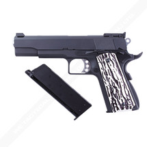 WE M1911 C Version Full Metal GBB in Black With Custom Grip