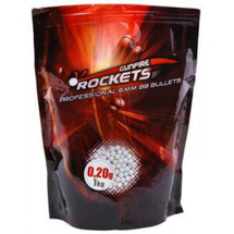 Rockets Professional  0.20g x 5000 BB pellets in 1kg Bag