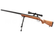 Well MB03 Spring Sniper Rifle with scope & bipod in Wood