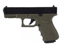 KJ Works G32C MS Green Metal Slide GBB Airsoft Pistol in Green