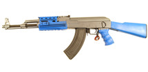 CYMA CM028A AK47 RIS Tactical Airsoft Rifle in Blue