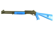 KOER Super 90 Combat Tri Barrel Shotgun Fixed Stock in Blue