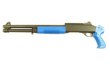 KOER M3 RIS Full Length Triple Burst Shotgun in Blue