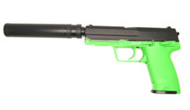 Blackviper USP Style Tactical Gas Pistol with Silencer in Green